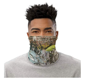 Face Covering-Graffiti Print Neck Gaiter-Midnight Sheetcake