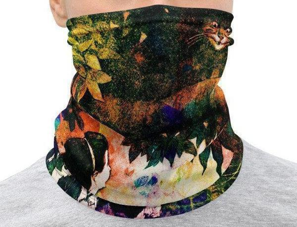 Face Covering-Graphic Alice Collage Print Neck Gaiter-Midnight Sheetcake