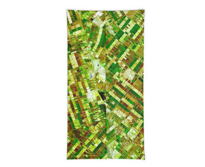 Face Covering-Green Farmlands from Space Neck Gaiter, NASA Print-Midnight Sheetcake