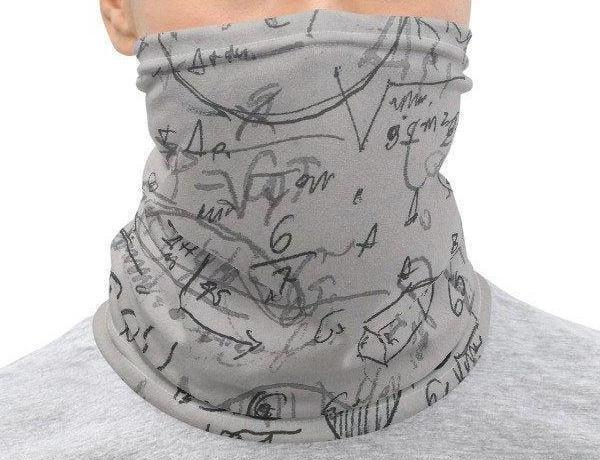 Face Covering-Math Equation Print Neck Gaiter-Midnight Sheetcake