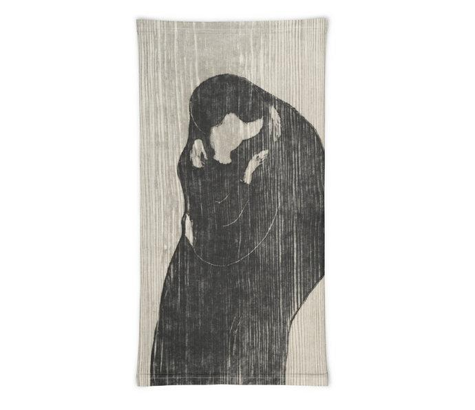 Face Covering-Munch's The Kiss IV Painting Neck Gaiter-Midnight Sheetcake