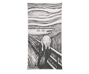 Face Covering-Munch's The Scream Painting Neck Gaiter-Midnight Sheetcake