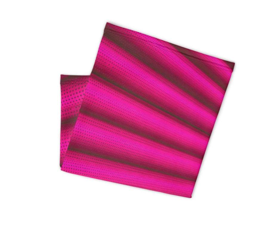 Face Covering-Pink Stripes Print Neck Gaiter-Midnight Sheetcake