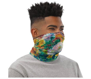 Face Covering-Renoir's Chrysanthemums Painting Neck Gaiter-Midnight Sheetcake