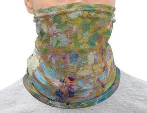 Face Covering-Seurat's Study for La Grande Jatte Neck Gaiter-Midnight Sheetcake