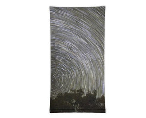 Face Covering-Timelapse Night Sky Stars Print Neck Gaiter-Midnight Sheetcake