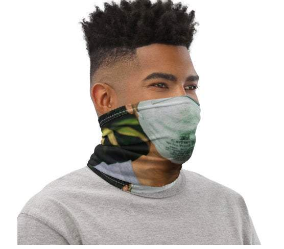 Face Covering-Trading Faces Masked Mask Print Neck Gaiter-Midnight Sheetcake