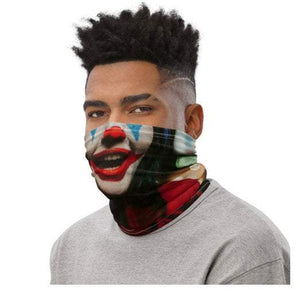 Face Covering-Trading Faces Red Laughing Clown Print Neck Gaiter-Midnight Sheetcake