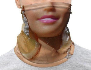 Face Covering-Vintage Barbie Half Face Blonde Barbie Photo Neck Gaiter-Midnight Sheetcake