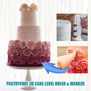 PastryCHEF 3D Cake Level Ruler & Marker