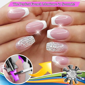 InstaFrench Smile Cut Nail Template