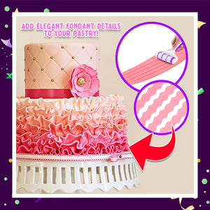 PastryDecor Fondant Strip Roller Cutter