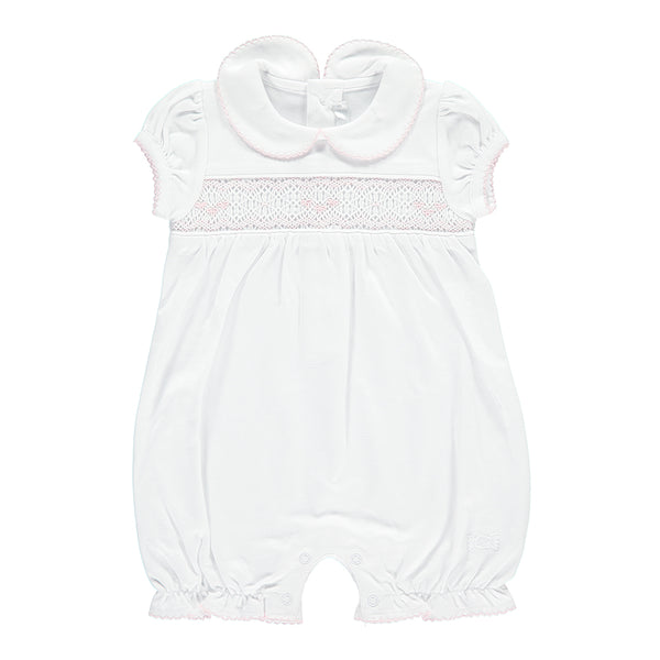 Handsmocked Pima Cotton Shortie - Bebe Bombom