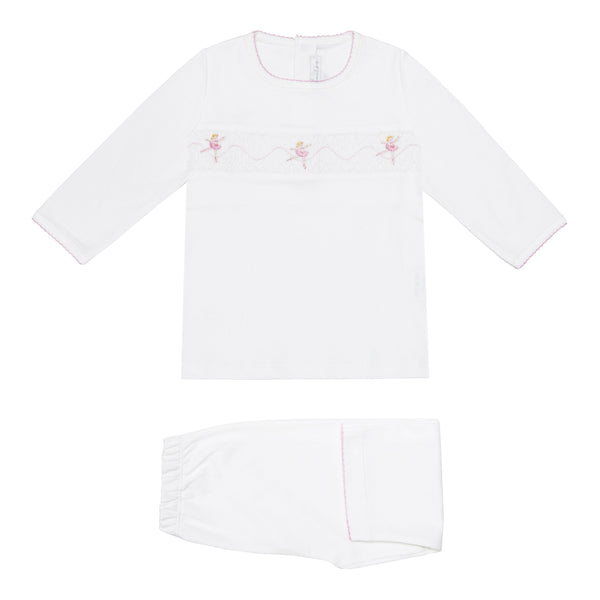 Soft Pima Cotton Ballerinas Pyjamas - Bebe Bombom