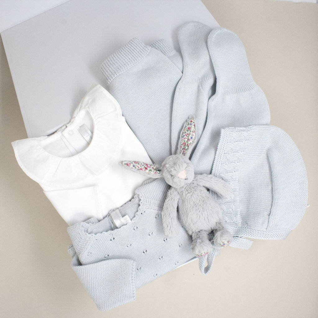 New! Grey Pima Cotton Luxury Gift Set - Bebe Bombom