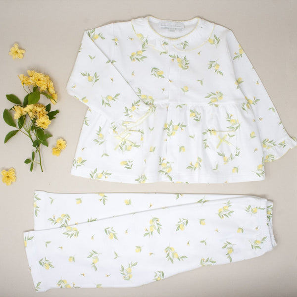 Lemon Pima Cotton Pyjama Set - Bebe Bombom