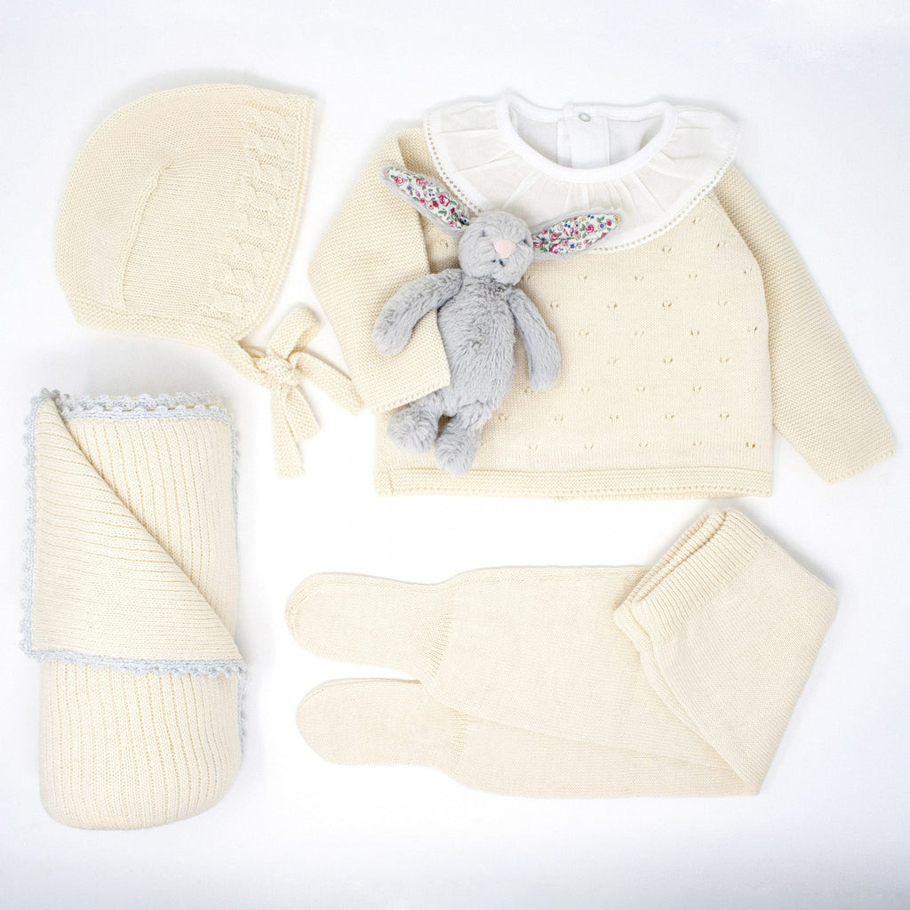 Back in stock!  Cream Pima Cotton Luxury Gift Set - Bebe Bombom