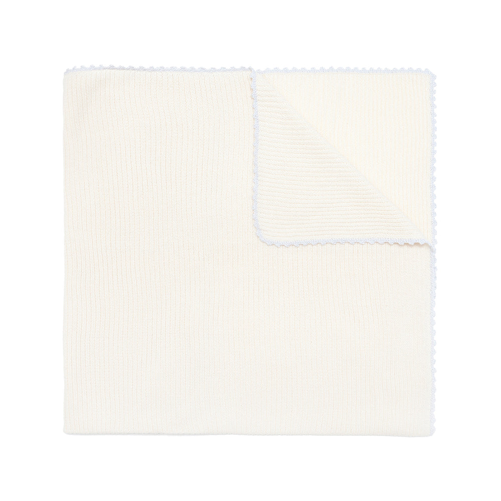New! Cream Pima Cotton Blanket - Bebe Bombom