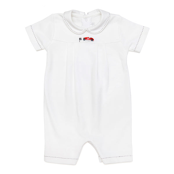 Baby Romper with Car Embroidery - Bebe Bombom