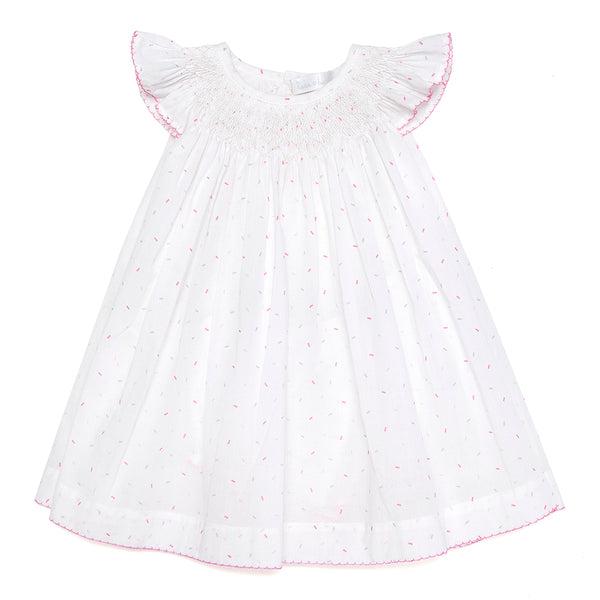 Handsmocked Confetti  Dress - Bebe Bombom
