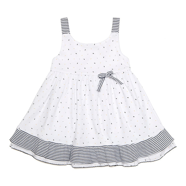 Pima Cotton Dress with Confetti Motif - Bebe Bombom