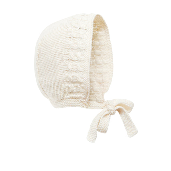 Cream Pima Cotton Bonnet - Bebe Bombom