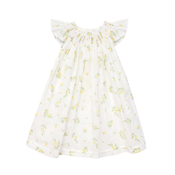 Handsmocked Lemon Dress - Bebe Bombom