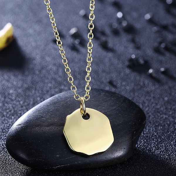 Lucky Coin Necklace in 18K Gold Plated