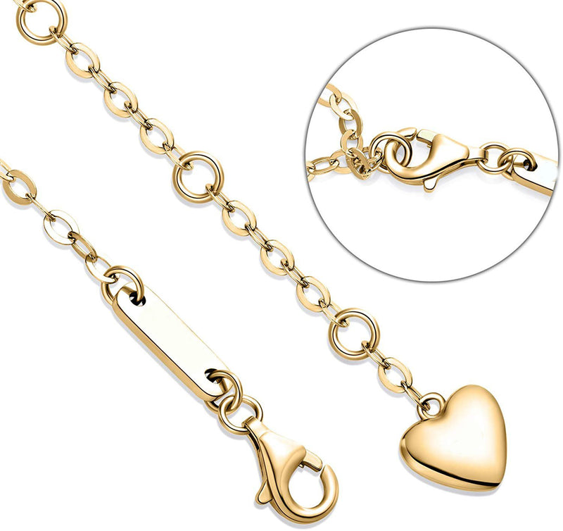 White Swarovski Elements Infinite Pendant Chain Bracelet in 14K Gold Plating