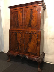 Chippendale Mahogany Cocktail Cabinet