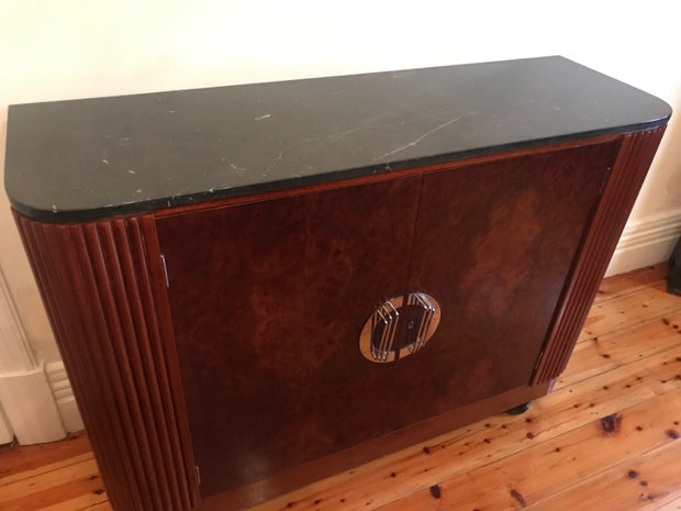 Art Deco Marble Top Cabinet