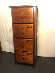 Antique Blackwood Filing Cabinet