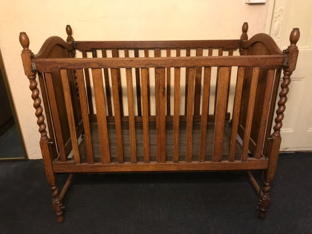 Antique Oak Cot