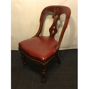 Pr Of Mahogany Desk Chairs