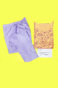Lavender  Colour Cotton Silk Cigarette Pant