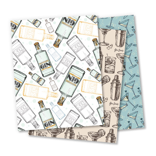 Gin Wrapping Paper