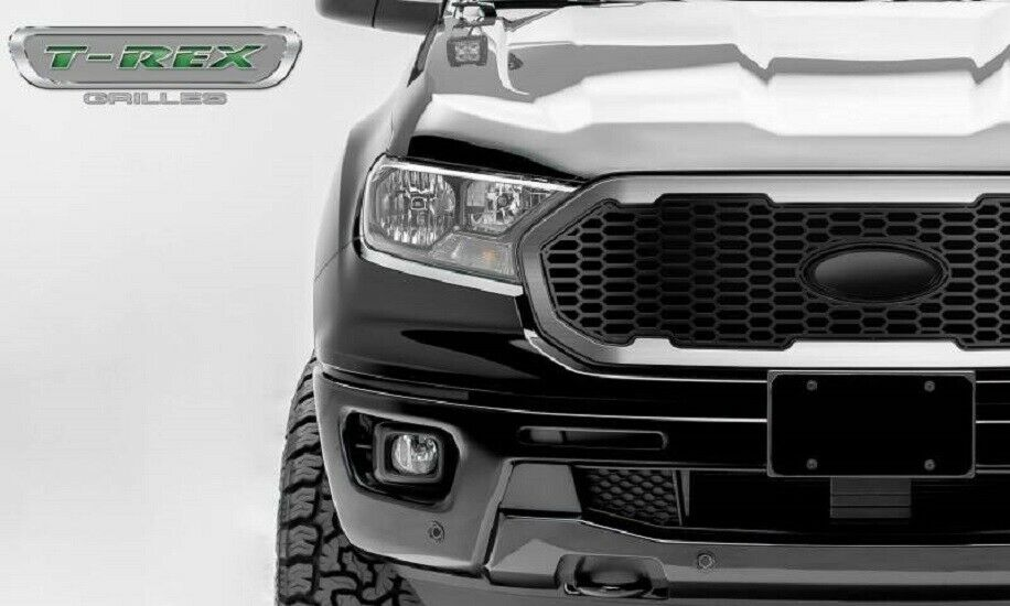 T-Rex 2019-2020 Ford Ranger Laser X Grille No Studs 1 PC Replacement With Stainless Steel Brushed Trim 6315823