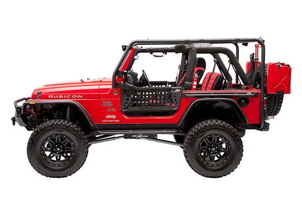 Body Armor 1997-2006 Jeep Wrangler Cargo Roof Rack Complete Kit  TJ-6124-1 & TJ-6125-2