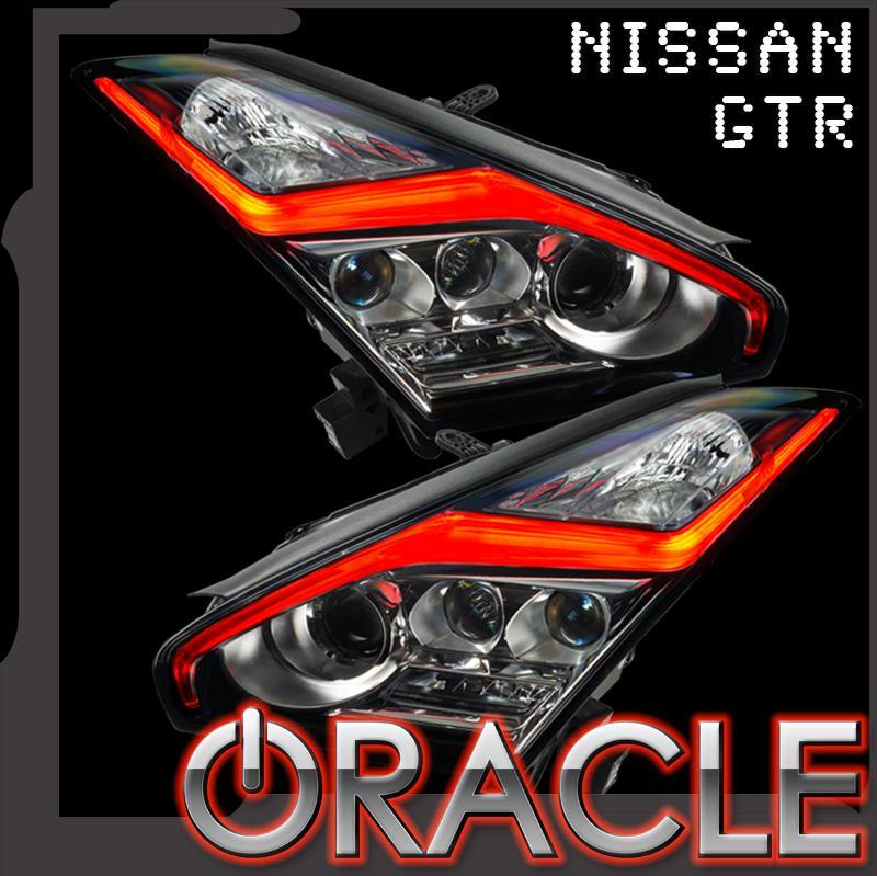 "Oracle Lighting 2015-2021 Nissan GT-R Colorshift ""lightning Bolt"" Rgb+w Headlight Drl Upgrade 1283-504"