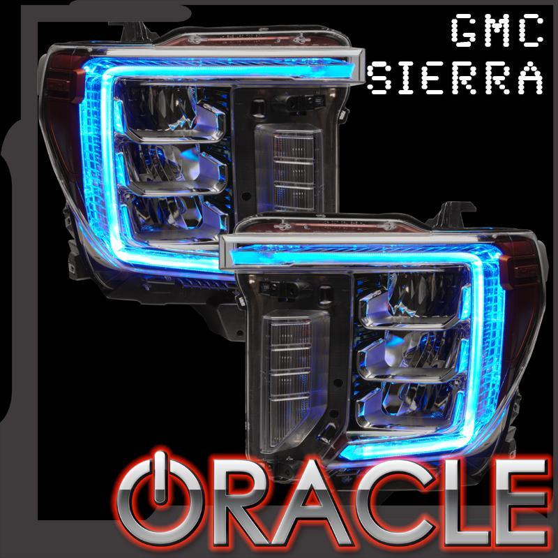 Oracle Lighting 2020-2021 GMC Sierra 2500 3500 HD Colorshift Rgb+w Headlight Drl Upgrade 1451-335