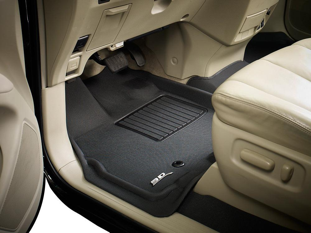 3D MAXpider  2014-2019 Toyota Highlander Kagu 2nd Row Carbon Fiber Embossed Pattern Black Floor Mat L1TY16321509