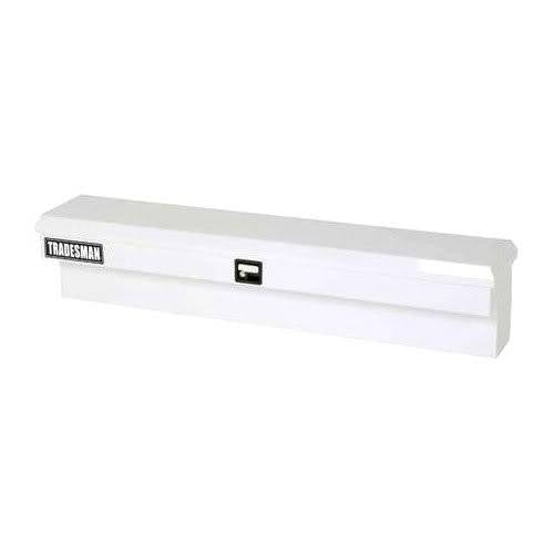 Lund Tradesman 60 Flush Mount Truck Tool Box Mid Size Single Lid Steel White Steel Specialty Boxes TSTWB60