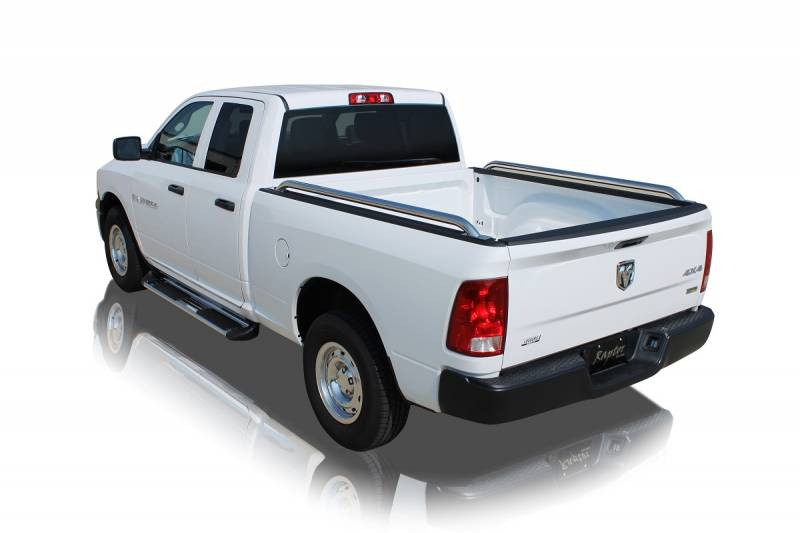 "Raptor Series 1988-1998 Chevrolet Silverado GMC Sierra 6.5ft Bed  Stainless Steel 1.9"" Truck Bed Rail 0201-0014"