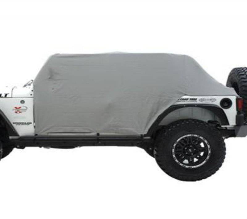 Smittybilt 1987-1991 Jeep Wrangler YJ TJ LJ Cab Cover With Door Flap Water Resistant Gray 1060