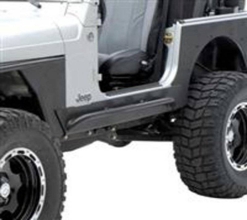 Smittybilt 1987-1995 Jeep Wrangler YJ XRC Rock Sliders With  Step Black Textured 76861
