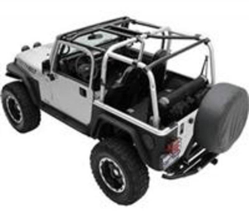 Smittybilt 1996-2006 Jeep Wrangler TJ LJ SRC Cage Kit 7 Piece Gloss Black 76900