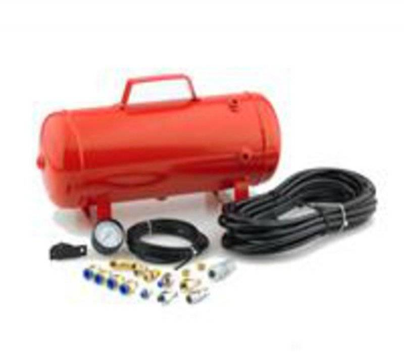 Smittybilt Universal XRC Air Tank 2.5 Gallon Tank With Fittings Red 99210-2
