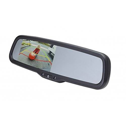 Echomaster 2014-2016 Nissan NV 4.3 Inch Mirror Monitor For NV200 And Chevy City Express With Adjustable Parking Lines PMM-43-NV2-PL