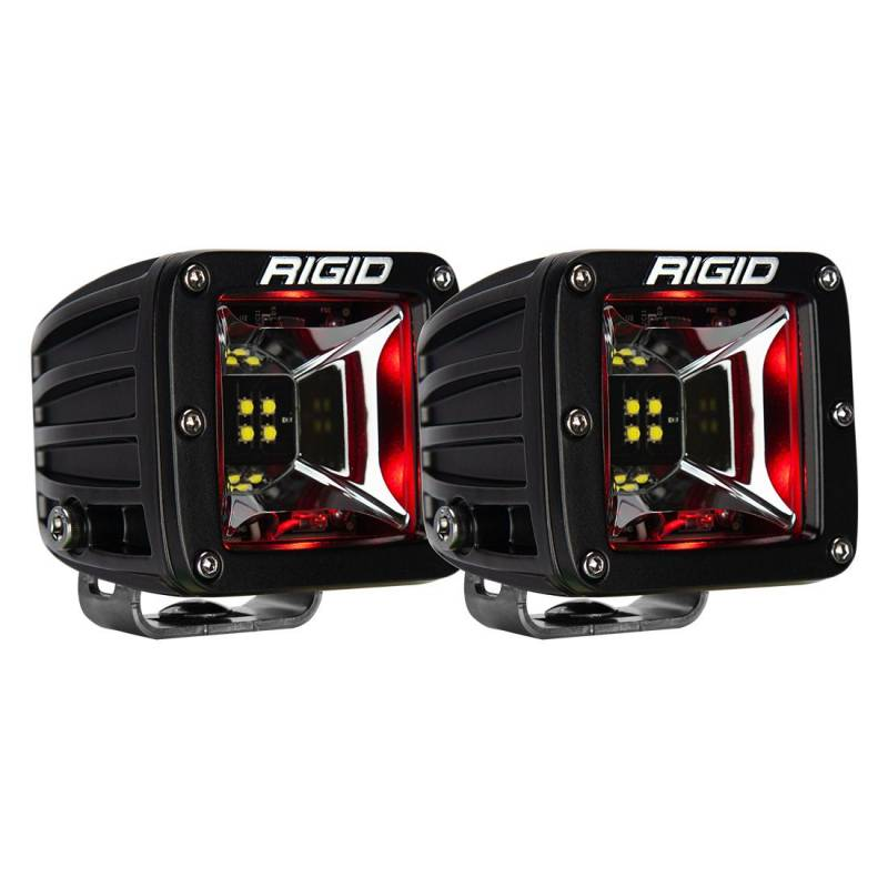 Rigid Industries Radiance Scene Red Blacklight Surface Mount Pair 68202