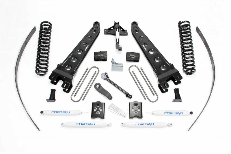 "Fabtech 2005-2007 Ford F-250 4WD 8"" RAD ARM System Without Factory overload Coils PERF RR Shocks K2015"